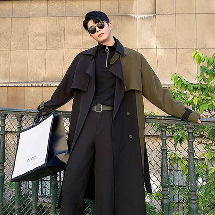 Bi-color Long Oversized Trench Coats