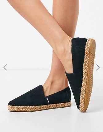 Round Toe Rubber Sole Casual Style Unisex Suede Street Style