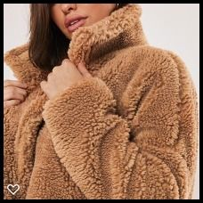 Plain Long Shearling Cashmere & Fur Coats
