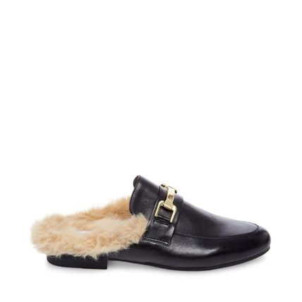 Steve Madden Casual Style Faux Fur Blended Fabrics Plain Leather