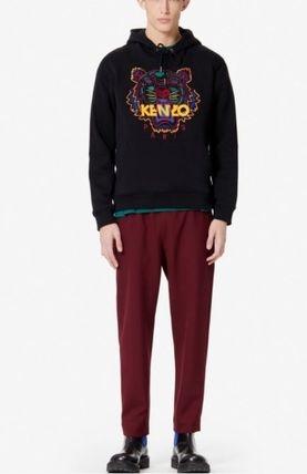 KENZO Hoodies Long Sleeves Plain Cotton Logo Designers Hoodies 2