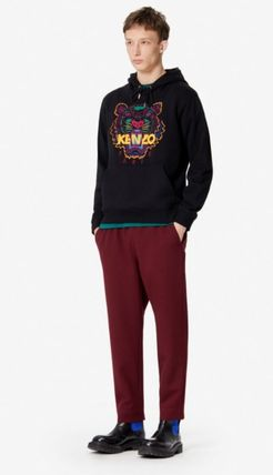 KENZO Hoodies Long Sleeves Plain Cotton Logo Designers Hoodies 5
