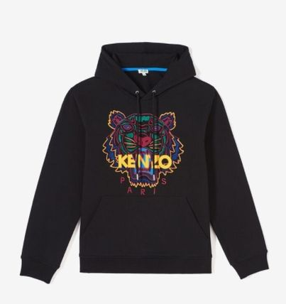 KENZO Hoodies Long Sleeves Plain Cotton Logo Designers Hoodies 7