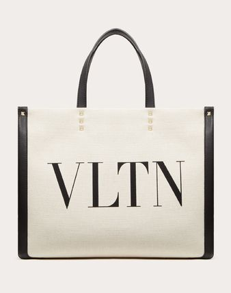 VALENTINO VLTN Casual Style Canvas Blended Fabrics Studded A4 Bi-color