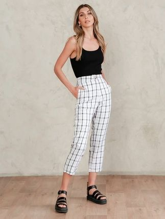 Gingham Glen Patterns Tartan Casual Style Denim Street Style