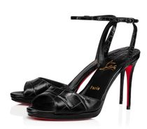 Christian Louboutin Open Toe Casual Style Plain Leather Party Style