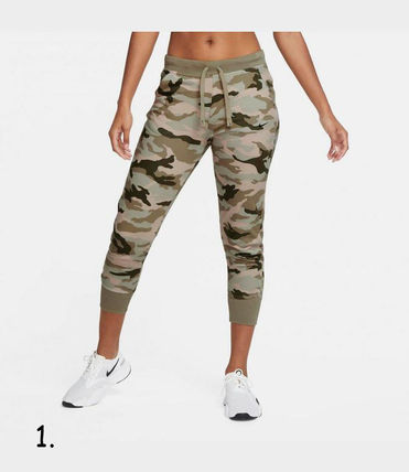 Nike Camouflage Casual Style Blended Fabrics Street Style Cotton