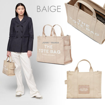 MARC JACOBS Casual Style Unisex Canvas A4 Office Style Logo Totes