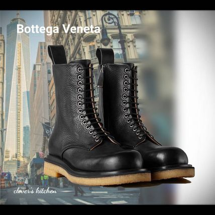 BOTTEGA VENETA Plain Toe Blended Fabrics Street Style Plain Leather