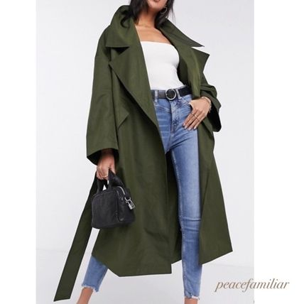 ASOS Casual Style Plain Long Trench Coats