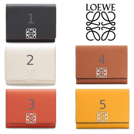 LOEWE Anagram Square Coin Cardholder In Pebble Grain Calfskin