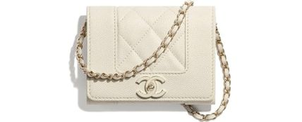 CHANEL MATELASSE Lambskin Chain Plain Crossbody Logo Shoulder Bags