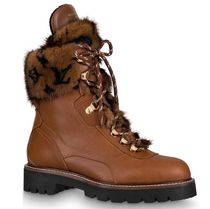Louis Vuitton Mountain Boots Casual Style Fur Plain Leather Logo