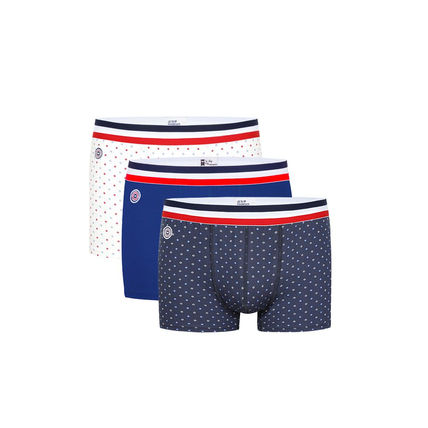 Stripes Plain Cotton Co-ord Logo Boxer Briefs