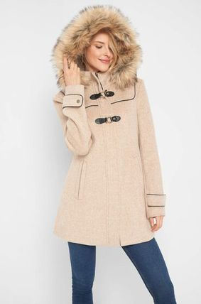 Wool Plain Medium Long Down Jackets