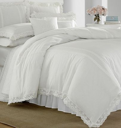 Laura Ashley Unisex Plain Pillowcases Comforter Covers Co-ord