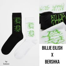 Bershka Street Style Collaboration Cotton Co-ord Logo Socks & Tights