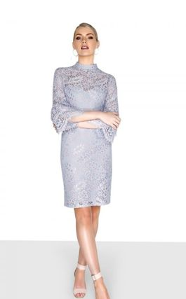 Casual Style Tight Long Sleeves Medium Party Style Lace