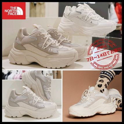 THE NORTH FACE WHITE LABEL Logo Platform Street Style Platform & Wedge Sneakers