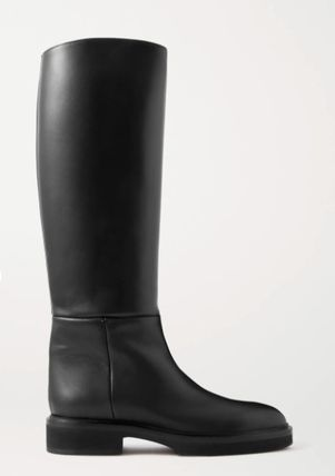 Round Toe Casual Style Plain Leather Office Style