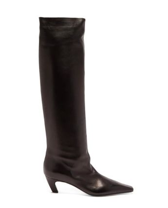 Square Toe Casual Style Plain Elegant Style Mid Heel Boots