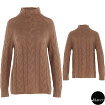 S Max Mara Cable Knit Wool Cashmere Long Sleeves Medium High-Neck