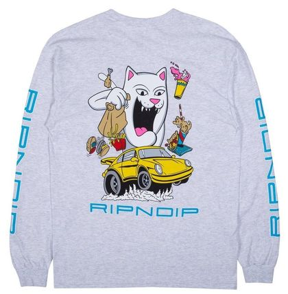 RIPNDIP Long Sleeve Street Style U-Neck Long Sleeves Long Sleeve T-shirt