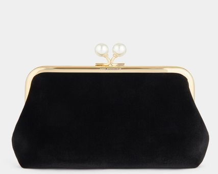 Anya Hindmarch 2WAY Chain Plain Party Style With Jewels Elegant Style Logo