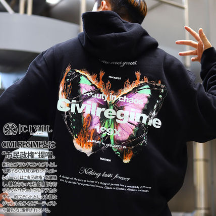 Logo Pullovers Unisex Long Sleeves Other Animal Patterns