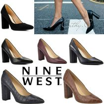 Nine West Casual Style Suede Plain Other Animal Patterns Leather