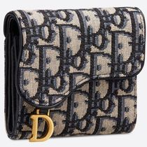 Christian Dior Unisex Small Wallet Folding Wallets