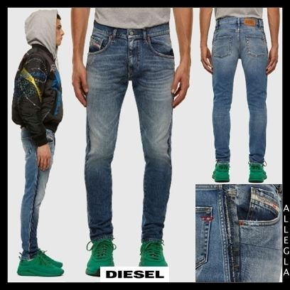 DIESEL More Jeans Denim Plain Cotton Logo Jeans