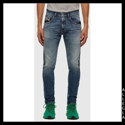 DIESEL More Jeans Denim Plain Cotton Logo Jeans 2