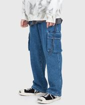 Raucohouse More Jeans Slax Pants Denim Street Style Collaboration Plain Jeans 5
