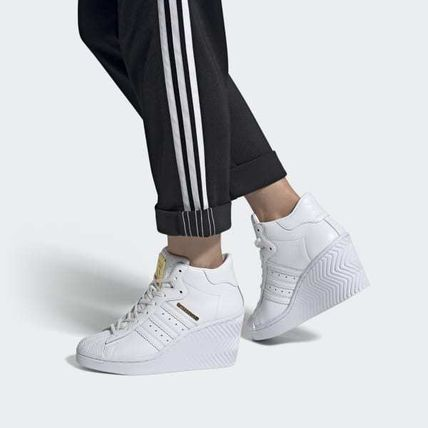 adidas SUPERSTAR Casual Style Street Style Platform & Wedge Sneakers
