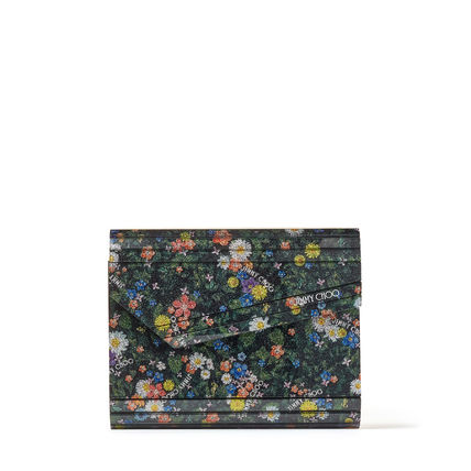 Jimmy Choo Flower Patterns Casual Style Chain Party Style Crossbody