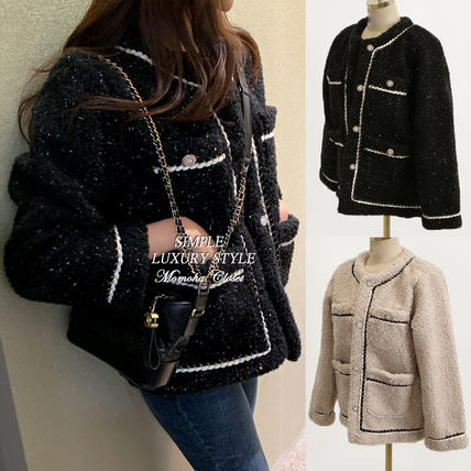 With Jewels Shearling Jackets