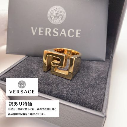 VERSACE Unisex Street Style Stainless Rings