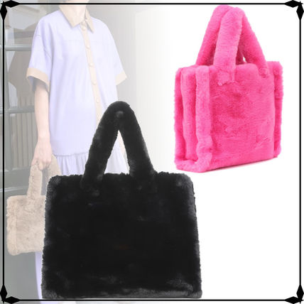Casual Style Street Style A4 Plain Totes
