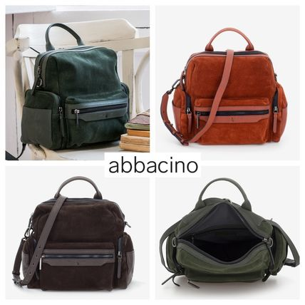 Casual Style Street Style Leather Backpacks