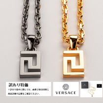 VERSACE Unisex Street Style Stainless Necklaces & Chokers