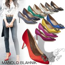 Manolo Blahnik Hangisi Casual Style Party Style With Jewels Office Style