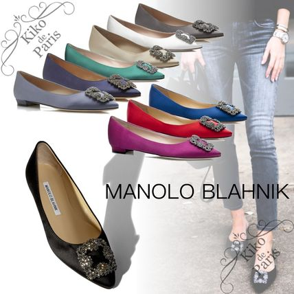 Manolo Blahnik Hangisi Formal Style  Casual Style Party Style With Jewels