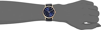 Marc by Marc Jacobs Leather Round Quartz Watches Elegant Style Analog Watches