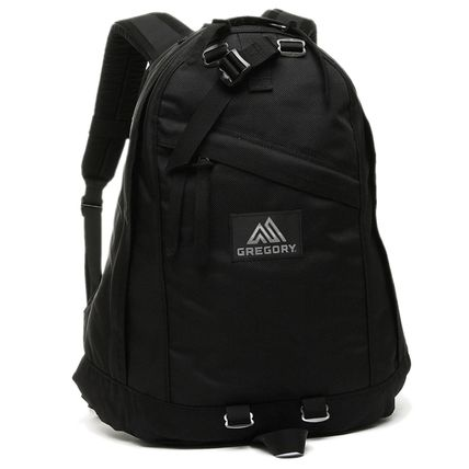 Casual Style Unisex Nylon A4 Plain Logo Backpacks