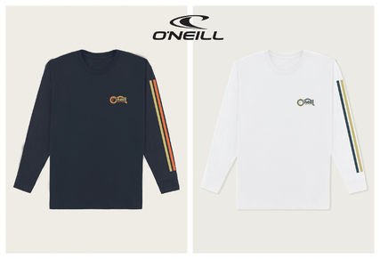 oneill Long Sleeve Crew Neck Pullovers Stripes Tropical Patterns U-Neck