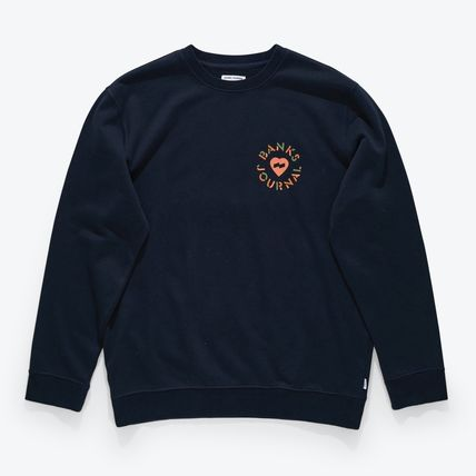 Crew Neck Pullovers Tropical Patterns Unisex Sweat