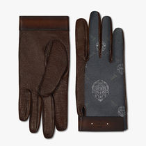 Berluti Signature Canvas And Lambskin Gloves  G0016