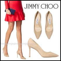 Jimmy Choo Casual Style Enamel Plain Leather Pin Heels Party Style