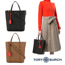 Tory Burch PERRY Casual Style Unisex 2WAY Plain Leather Party Style